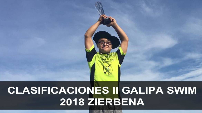 Clasificaciones II Galipa swim 2018 Zierbena