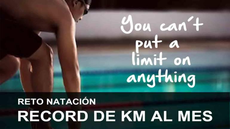 Reto natación: Record de km al mes