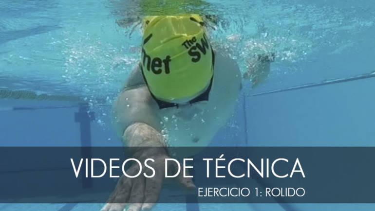 Ejercicios de técnica de natación: 1.rolido