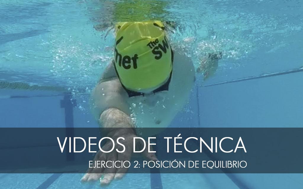 Ejercicios de técnica de natación: 2. posición de equilibrio